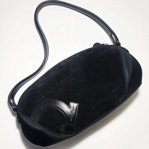 Salvatore Ferragamo Suede Leather Shoulder Bag